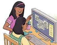 Children's Magazine Illustrations