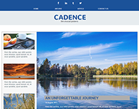 Cadence Blog Website Concept