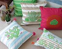 Succulent Sunshine | A Soft Furnishings Collection