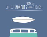 Illustration for surfers, mountaineers & VW Bus lovers