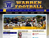 Warren Football - Web Design