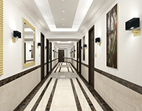 Qatar, Doha Hotel Hallway option 2 &3 Concept Design