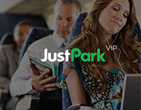 Just Park Landing Page. Study