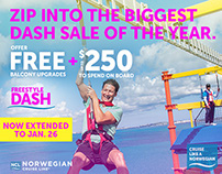 Norwegian Cruise Line digital banners
