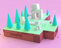 Cartoon ruins