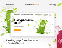 Landing page for online juice-store | Натуральные соки