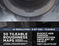 50 Tileable Roughness Maps - Surface Imperfection