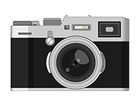 Camera drawn with Illustrator.