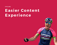 Cycling - Web Design and UX&UI