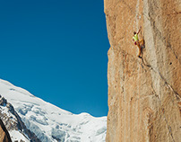 A climbing adventure on Mont Blanc massif.