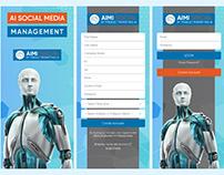 AIMI Social Media Management Mobile App UI Design