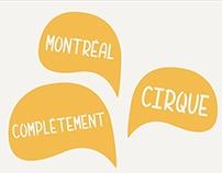 Affiche Montréal Complètement Cirque