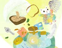 2016 Book illustration-小貓探長嚇一跳