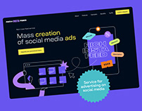 Service for mass creation ads