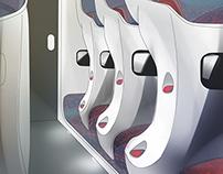 Hitachi Shinkansen Interior