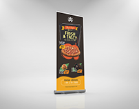 Fast Food Rool Up Banner Design