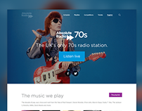 Absolute Radio network and station homepages