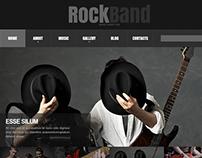 Rock Band Joomla Template