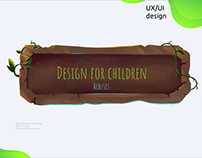 UX/UI Design for children with rebuses