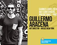 Guillermo Aracena - Predictions Cannes 2016 - Press