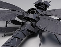Paper Sculpture - Dragon Fly