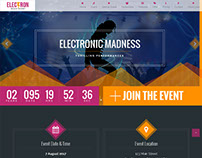 Music Event Landing Page - ELECTRON