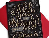 Time & Wisdom ~ Thank You Card