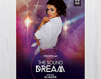 The Sound Dream - Free PSD Flyer Template