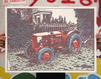taxis / silkscreen poster