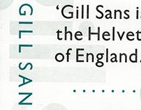 Gill Sans - Type Specimen