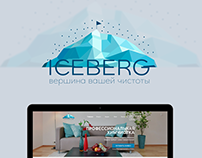 Design, development website for laundry company Iceberg