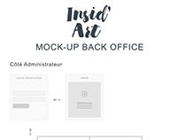 Mock Up Back Office - Insid'Art