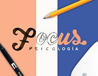 Focus Psicología | Hand letter logo