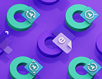 3D Icons for Educloud Branding Identity
