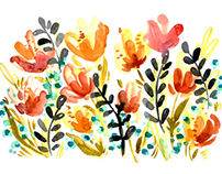 Watercolor Wildflowers