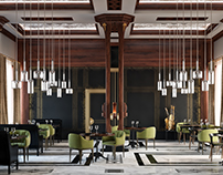 Art deco restaurant 3D-Visualization&Design