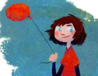 Girl with a red balloon /// Kırmızı balonlu kız