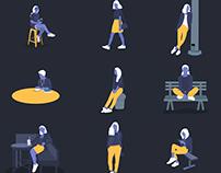 Female Character illustrations