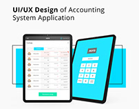 UI/UX Design of Accounting System Application