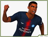 3D Model: Black Soccer Player HQ
