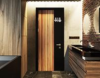 Project of loft bathroom in Saint-Petersrburg