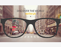 GLASS company homepage design