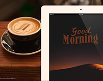 Good Morning Mock up (iPad and Latte Art)