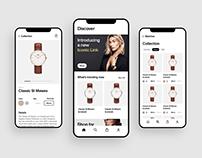 Daniel Wellington Mobile UI (Concept)