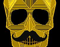 Gold Skull Logo