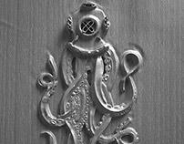 Squid Zbrush, 3D sculpt, Ocatane, render