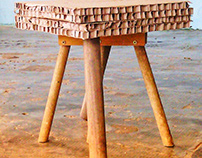 """""""BRUT"""" STOOLS WITH UPCYCLE AND WABISABI DIRECTIONS"""