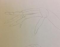 Figure Drawing - Hands (Simple Shapes + Skeleton)
