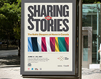 Sharing Our Stories exhibition design