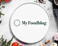 Logo and identity for myfoodblog.nl